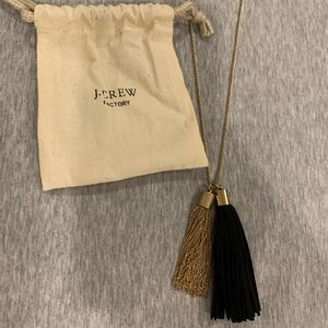 NWT J. Crew factory long tassel necklace